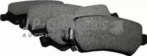 JP Group 1263700110 - Комплект тормозных колодок, дисковый тормоз autodnr.net