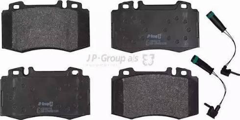 JP Group 1363602410 - Тормозные колодки, дисковые car-mod.com