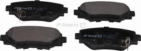 JP Group 3863701110 - Комплект тормозных колодок, дисковый тормоз autodnr.net