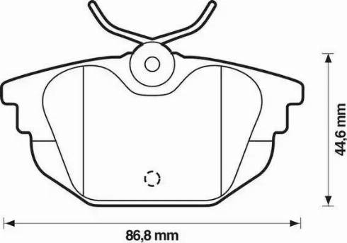 Jurid 571979D - Комплект тормозных колодок, дисковый тормоз autodnr.net
