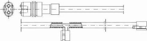 Jurid 581352 - Сигнализатор, износ тормозных колодок autodnr.net
