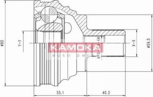 Kamoka 7338 - Шарнирный комплект, приводной вал autodnr.net