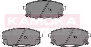 Kamoka JQ101202 - Тормозные колодки, дисковые car-mod.com