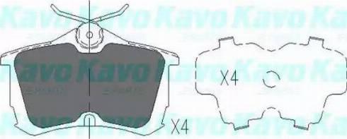 Kavo Parts KBP-2011 - Тормозные колодки, дисковые car-mod.com