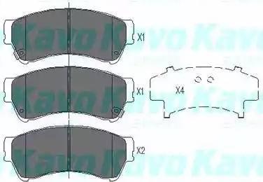 Kavo Parts KBP-4557 - Комплект тормозных колодок, дисковый тормоз autodnr.net