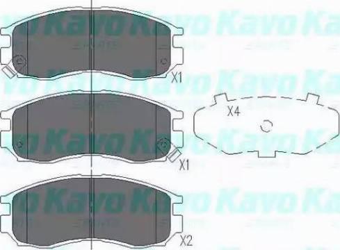 Kavo Parts KBP-5502 - Комплект тормозных колодок, дисковый тормоз autodnr.net