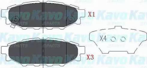 Kavo Parts KBP-8005 - Тормозные колодки, дисковые car-mod.com