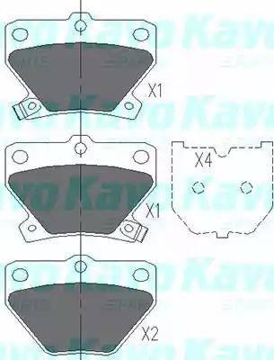 Kavo Parts KBP-9013 - Комплект тормозных колодок, дисковый тормоз autodnr.net