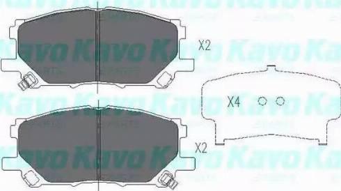 Kavo Parts KBP-9080 - Тормозные колодки, дисковые car-mod.com