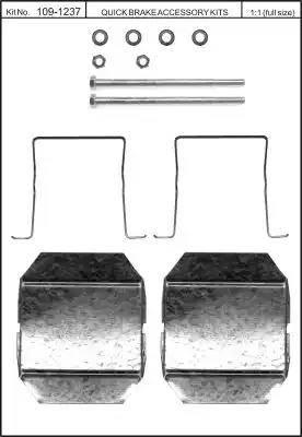 Kawe 109-1237 - Комплектующие, колодки дискового тормоза autodnr.net