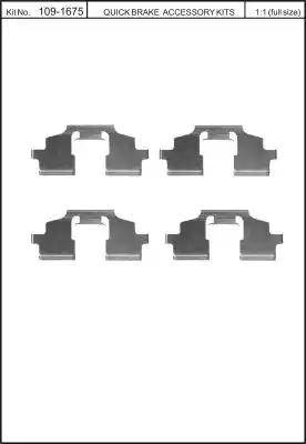 Kawe 109-1675 - Комплектующие, колодки дискового тормоза autodnr.net