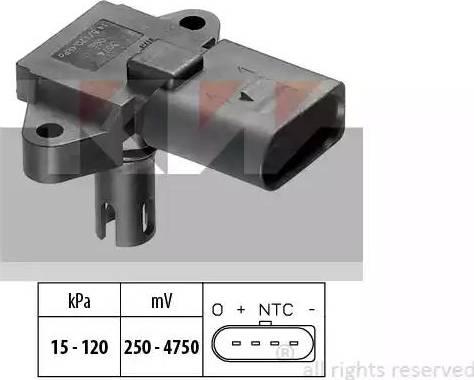 KW 493 074 - Датчик, давление во впускной трубе car-mod.com