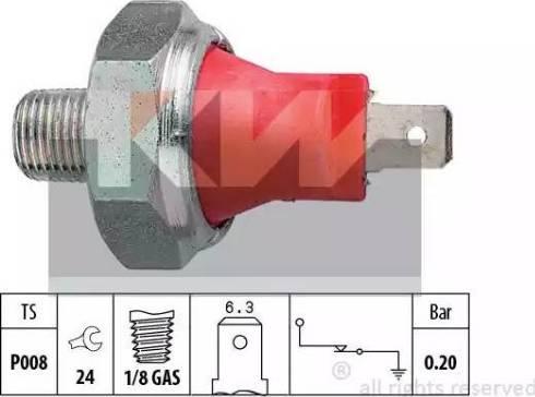 KW 500 035 - Датчик давления масла autodnr.net