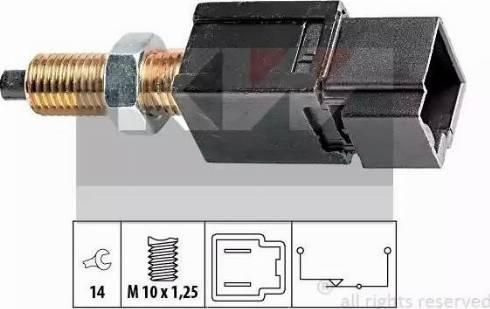KW 510 052 - Выключатель, привод сцепления (Tempomat) car-mod.com