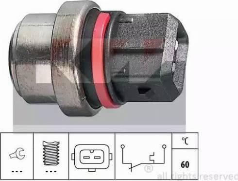 KW 540 075 - Термовыключатель, сигнальная лампа охлаждающей жидкости avtokuzovplus.com.ua