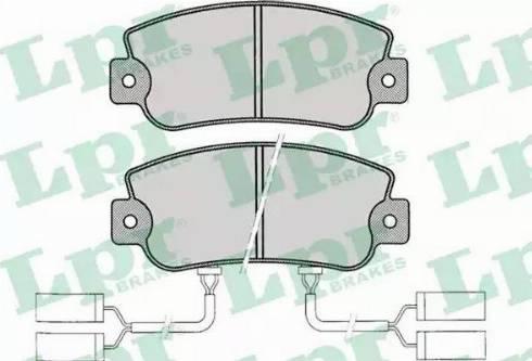 LPR 05P019 - Комплект тормозных колодок, дисковый тормоз autodnr.net