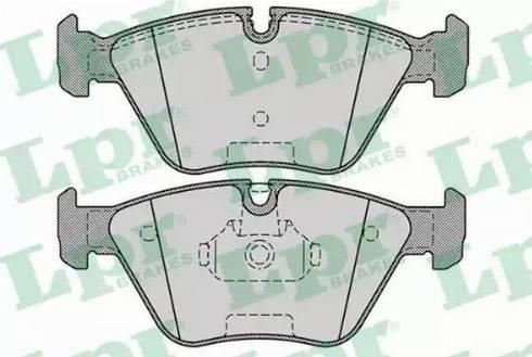 LPR 05P1251 - Тормозные колодки, дисковые car-mod.com