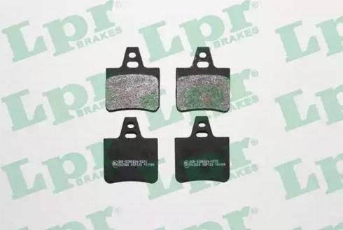 LPR 05P133 - Комплект тормозных колодок, дисковый тормоз autodnr.net
