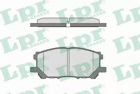LPR 05P1368 - Тормозные колодки, дисковые car-mod.com