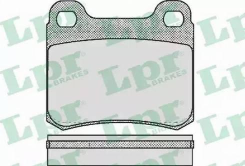 LPR 05P158 - Комплект тормозных колодок, дисковый тормоз autodnr.net