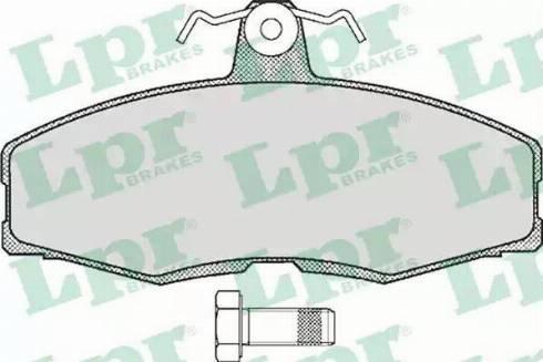 LPR 05P234 - Комплект тормозных колодок, дисковый тормоз autodnr.net