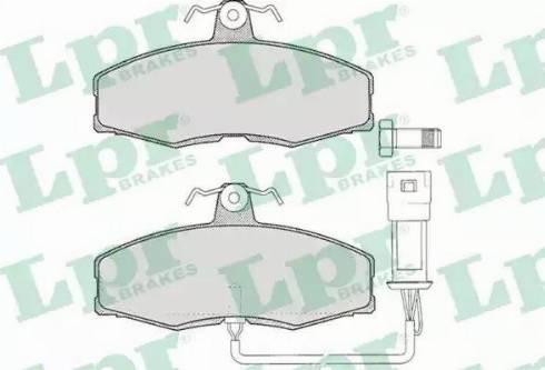 LPR 05P235 - Комплект тормозных колодок, дисковый тормоз autodnr.net