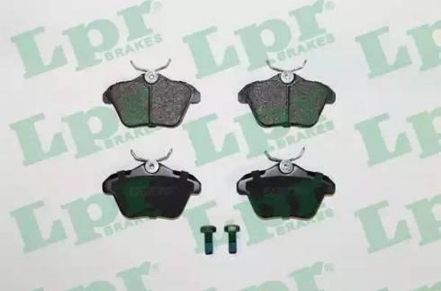LPR 05P298 - Комплект тормозных колодок, дисковый тормоз autodnr.net