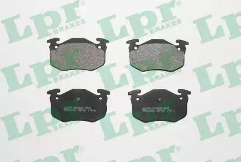 LPR 05P307 - Комплект тормозных колодок, дисковый тормоз autodnr.net