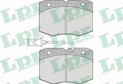 LPR 05P388 - Комплект тормозных колодок, дисковый тормоз autodnr.net