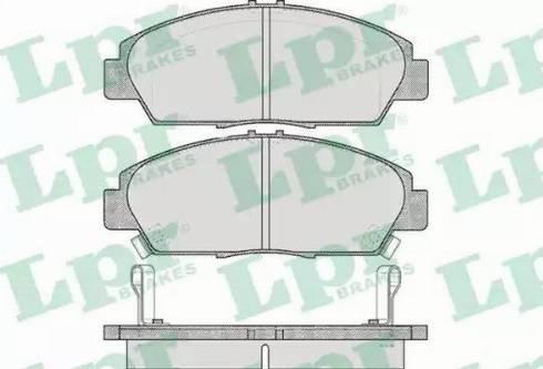 LPR 05P567 - Тормозные колодки, дисковые car-mod.com