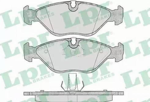 LPR 05P656 - Тормозные колодки, дисковые car-mod.com