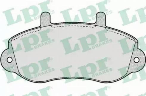 LPR 05P663 - Комплект тормозных колодок, дисковый тормоз autodnr.net