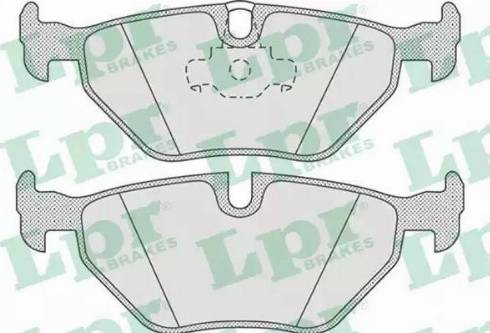 LPR 05P675 - Тормозные колодки, дисковые car-mod.com