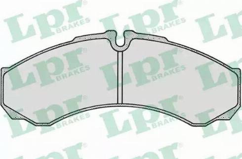 LPR 05P684 - Комплект тормозных колодок, дисковый тормоз autodnr.net