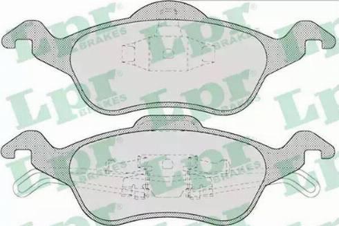 LPR 05P696 - Тормозные колодки, дисковые car-mod.com