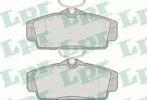 LPR 05P706 - Комплект тормозных колодок, дисковый тормоз autodnr.net