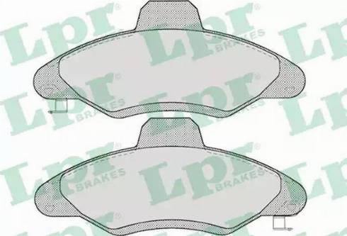 LPR 05P717 - Комплект тормозных колодок, дисковый тормоз autodnr.net