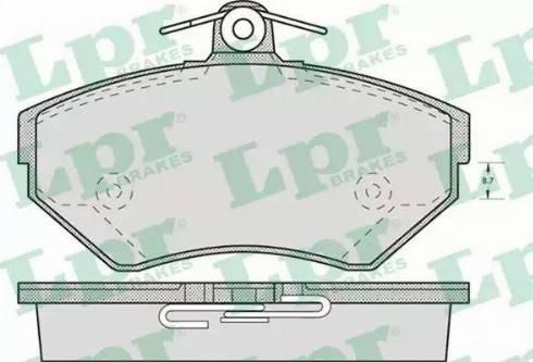 LPR 05P719 - Тормозные колодки, дисковые car-mod.com