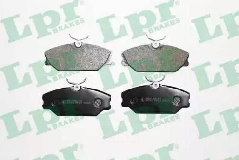 LPR 05P816 - Тормозные колодки, дисковые car-mod.com