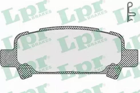 LPR 05P838 - Тормозные колодки, дисковые car-mod.com