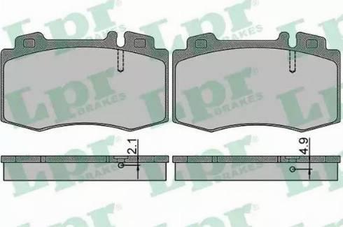 LPR 05P849 - Тормозные колодки, дисковые car-mod.com