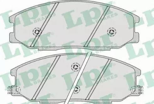 LPR 05P858 - Комплект тормозных колодок, дисковый тормоз autodnr.net