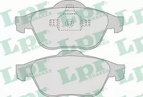 LPR 05P864 - Комплект тормозных колодок, дисковый тормоз autodnr.net