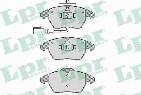 LPR 05P866 - Тормозные колодки, дисковые car-mod.com