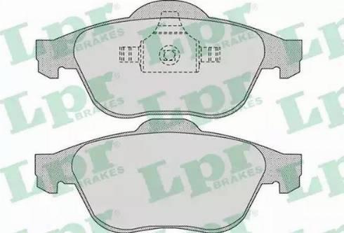 LPR 05P898 - Тормозные колодки, дисковые car-mod.com