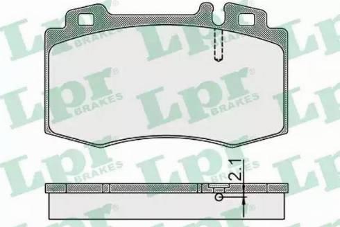 LPR 05P899 - Тормозные колодки, дисковые car-mod.com