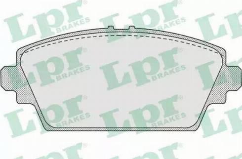 LPR 05P940 - Тормозные колодки, дисковые car-mod.com