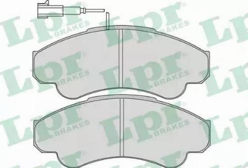 LPR 05P967 - Комплект тормозных колодок, дисковый тормоз autodnr.net