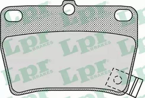 LPR 05P997 - Комплект тормозных колодок, дисковый тормоз autodnr.net