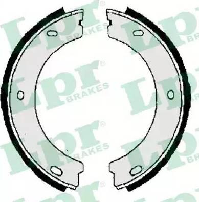 LPR 06400 - Комплект тормозных колодок, стояночная тормозная система autodnr.net